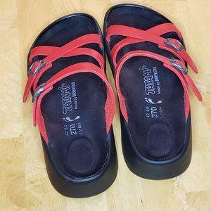 BIRKENSTOCK Tatami Red Criss Cross Sandals